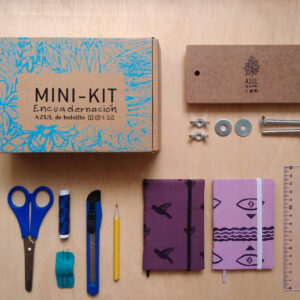 mini-kit-encuadernacion-azuldebolsillo
